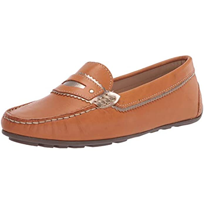 Driver Club USA Women's Leather Made in Brazil Luxury Jagged Penny Driving Style Loafer