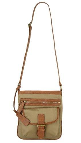 MARCO TOZZI BAGS Handtasche, Umhängetasche, Nylon, 4 Farben: olive, mocca braun, cranberry rot oder schwarz Olive