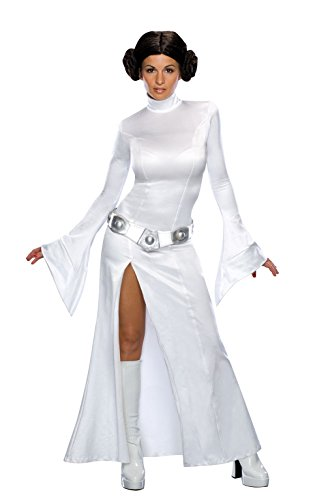 Broadway Halloween Costume (Secret Wishes Women's Sexy Princess Leia Costume, White, XS)