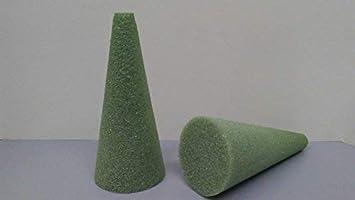 Styrofoam Cones Green 9X4 2 Pack