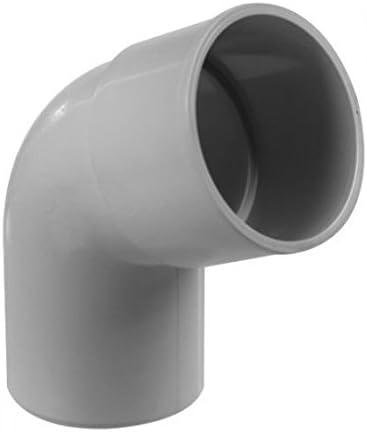 gris Coude PVC 67/°30 MF pour tube /Ø80 /épaisseur 3.2mm Goutti/ère PVC 25 demi-ronde
