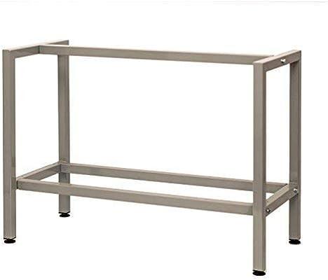 Banco De Metal, Mesa de taller, mesa de trabajo, mesa, estructura Pack mesa, Ancho: 1100 mm – Profundidad: 495 mm – Altura: 815 – 835 mm incluye 4 pieza ajustables pies.: Amazon.es: Bricolaje y herramientas