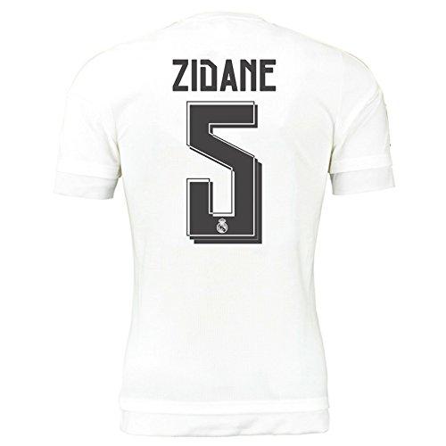 2015-16 Real Madrid Home Shirt (Zidane 5) Kids B077VKLY34White XL Boys 32-34\