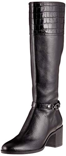 Hautes C Femme Geox C9999 Black Noir Bottes D Glynna I6Ww4C