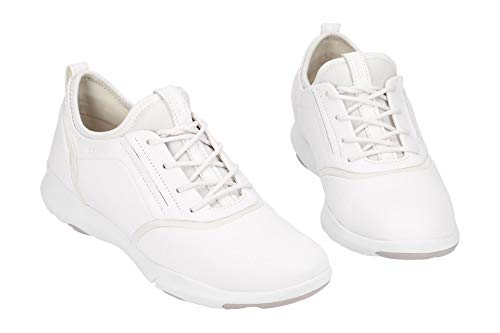 S Enfiler Nebula Blanc Geox A D C1001 white Baskets Femme 7UPwnqEan
