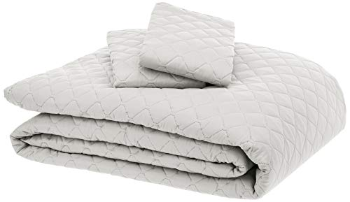 AmazonBasics Oversized Quilt Coverlet Bed Set - Full or Queen, Cream Diamond (Target Bedspreads Clearance)