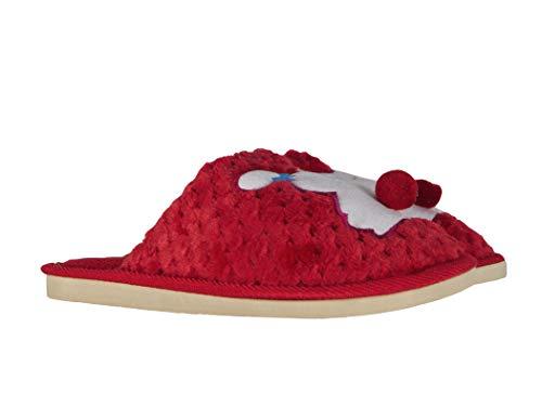 Idea Pantofole Comode Morbide Rosso Animale Fiocco Takestop® Peluche Fiocchetto Animali Coniglietto Regalo Ciabatte Coniglio Conigli Calde Invernali Antiscivolo 6ddwS1q