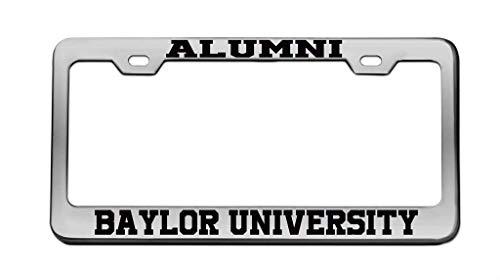 zhangjialicense Alumni Baylor University Aluminum License Plate Frame Tag Black 2 Holes and Screws -