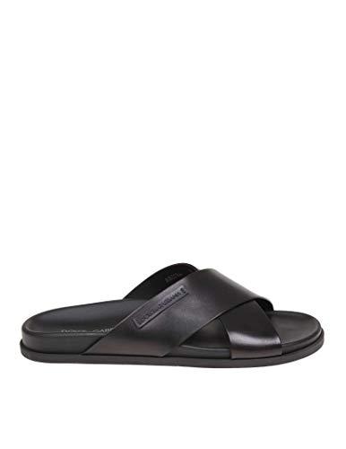 Gabbana Men Sandals Dolce - Dolce e Gabbana Men's A80134az63080999 Black Leather Sandals