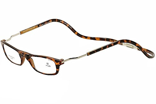 Clic Reading Glasses- XXL- Tortoise Magnetic Eyewear 2.00