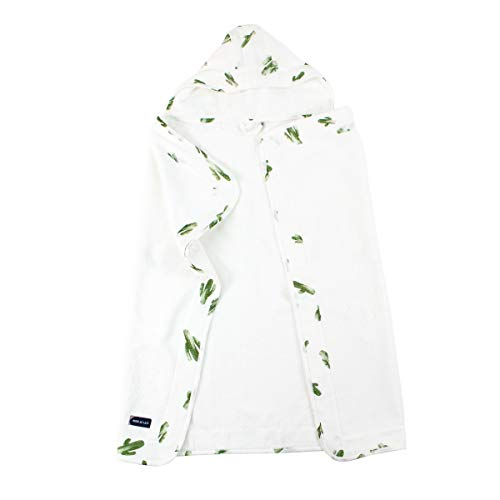 Bebe au Lait Soft Terry Cloth and Muslin Hooded Toddler Towel - Saguaro Cactus