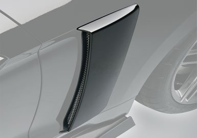 2017 Mustang Roush Painted Quarter Panel Side Scoops - White Platinum UG