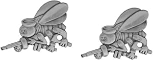 MilitaryBest NAVY SEABEE BALL CAP PIN 2 Pack from MilitaryBest