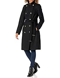 Womens Double Breated Wool Coat with Belt