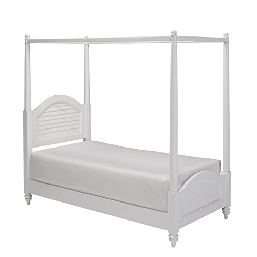 Home Styles 5543-410 Bermuda Brushed Canopy Bed, Twin, White
