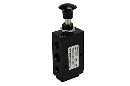 (Hand Push Pull Button Pneumatic Air Control Valve 5 Port 4 Way 2 Position 1/4