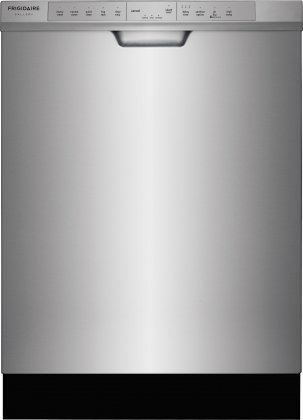 """Frigidaire FGCD2444SA 24"""" Built-In Dishwasher with 14 Place Settings 34 Minute Quick Clean OrbitClean Spray Arm DishSense Technology and Effortless Dry in Stainless Steel with Matching"""