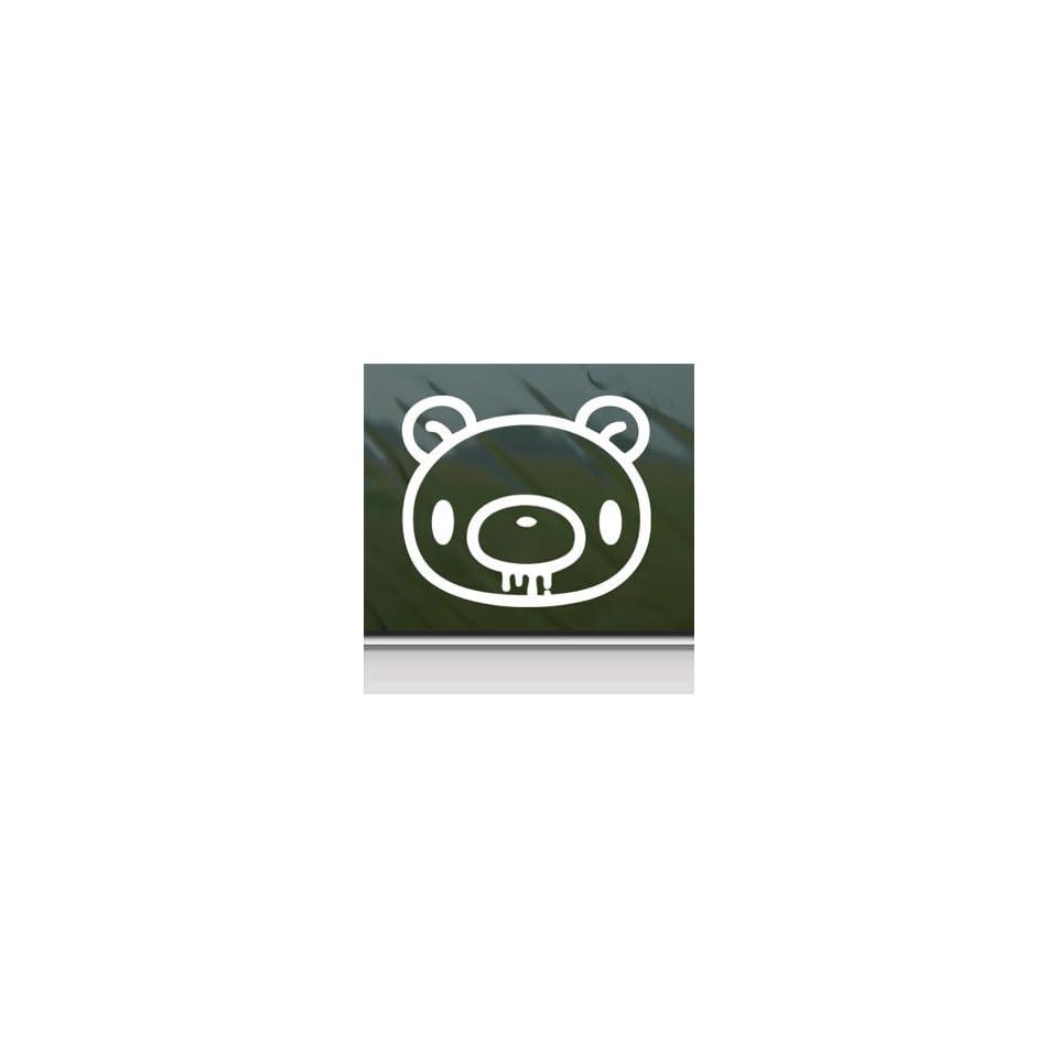 Gloomy Head White Sticker ANIME Jdm Car Vinyl Window Laptop White Decal