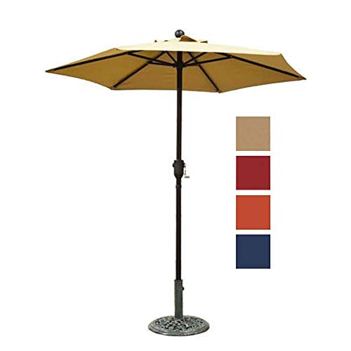 (Patio Umbrella Outdoor Table Umbrella with 6 Sturdy Ribs and Crank 6 ft, Taupe)