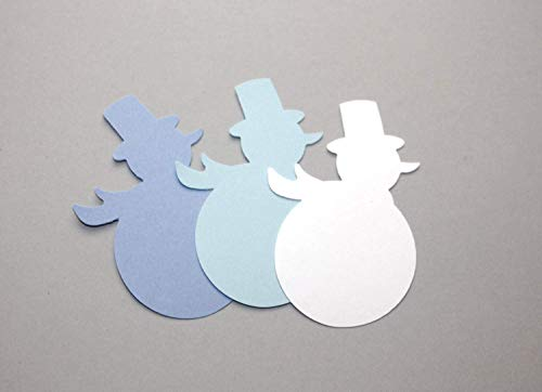 Snowman Die Cuts, Paper Decorations Snowman for Parties Card Making Scrapbooking DIY Crafts (30 Count) from Crafts & Confetti