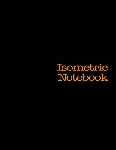 Isometric Notebook: 120 Pages, Black Cover