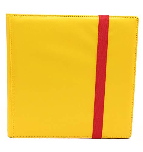 Yellow Dex Protection Binder 12 Pocket Card Storage Binder