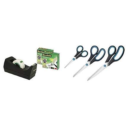 schwarz inkl Scotch® Tischabroller greenerChoice 3 Rollen Klebefilm