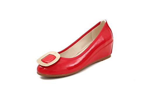 SDC05973 Femme EU Plateforme 36 Rouge AdeeSu Red 5 RAdCqRw6