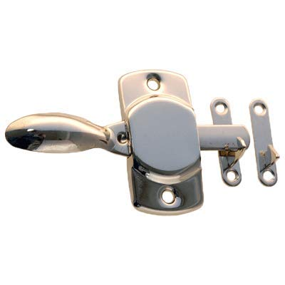 Plain Hoosier Left and Right Nickel Latch and Catch | Antique Cabinet, Vintage Cupboard, Old Desk Reproduction Hardware | KC-2N