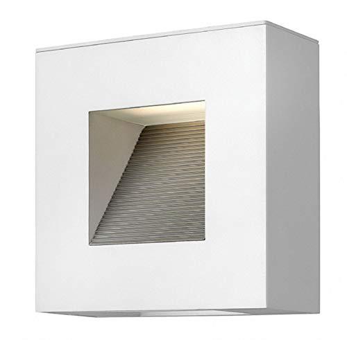 - Hinkley 1647SW, Luna Cast Aluminum Outdoor Wall Sconce Lighting, 26 Watts Fluorescent, Satin White