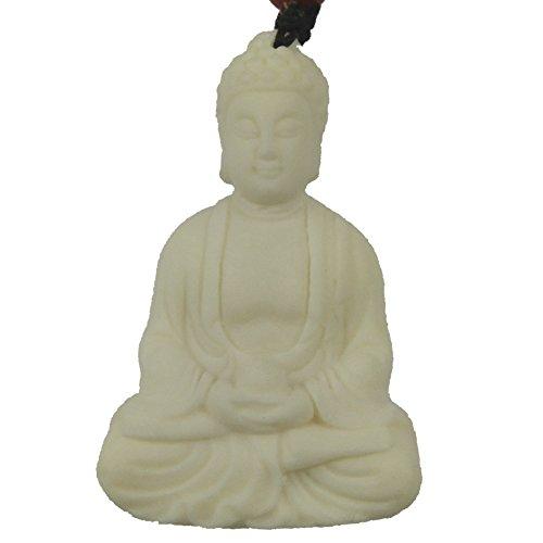 Chinese Feature / 12 Chinese Zodiac / Lucky God White Bone Carving Pendant (New Buddha-4) Lucky Buddha Pendant