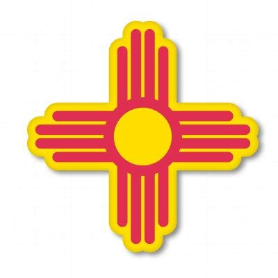New Mexico State Animal - New Mexico Sun State Symbol Vinyl Sticker - Car Phone Helmet Bumper Sticker Decal