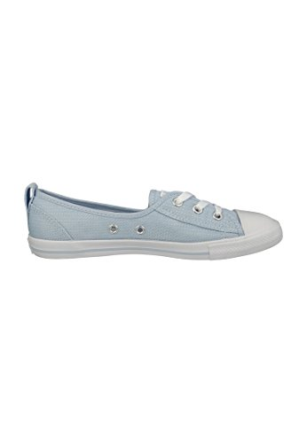 Para Mujer Lona Porpoise Azul Bailarinas White Converse De Txqttz