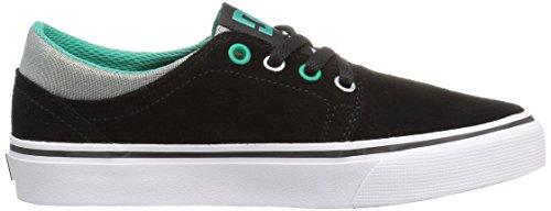 DC APPAREL - Zapatillas de Skateboarding Unisex Niños Black/Turquoise/Whit