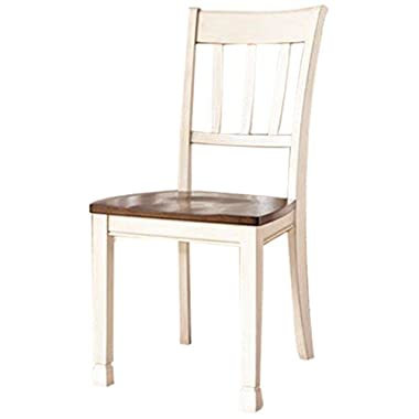 Ashley Furniture Signature Design Whitesburg Dining Room Side Chair, Two-Tone, Set of 2