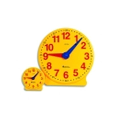 OKSLO Learning Resources 12-Hour Big Time Demonstration Clock - 13.25 in. - Plastic