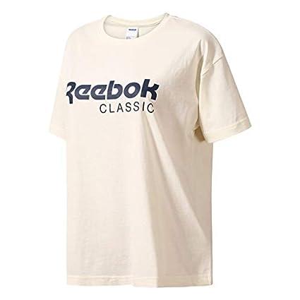 a7ed4dd2c76ba Amazon.com: Reebok Classics Womens Elevated Foundation T-Shirt ...