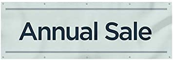 Annual Sale Basic Teal Wind-Resistant Outdoor Mesh Vinyl Banner 9x3 CGSignLab