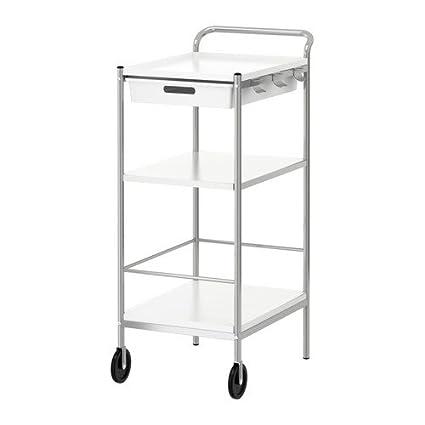Ikea BYGEL - Trolley, Blanco, estática - 98 x 59 x 39 cm: Amazon.es: Hogar