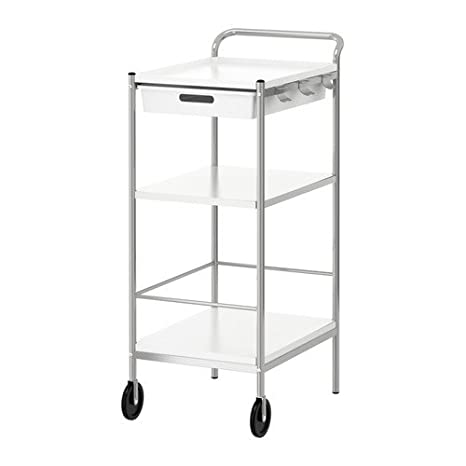 Ikea BYGEL - Trolley, Blanco, estática - 98 x 59 x 39 cm: Amazon.es: Hogar