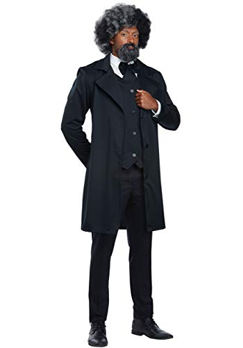 California Costumes Men's Abraham Lincoln-Frederick Douglass-Adult Costume, Black, Small -