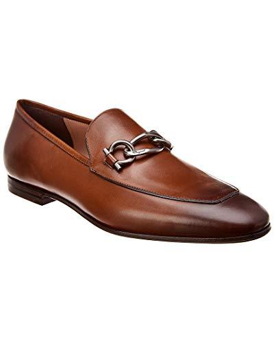 SALVATORE FERRAGAMO Gancini Leather Loafer, 8.5 Ee