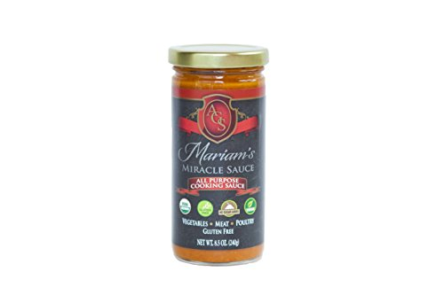 Mariam's Miracle Sauce (Regular), Truly an All Purpose Cooking Sauce & More in 8.5 Oz Glass Jar (Tomato (Tomatoes In Glass)