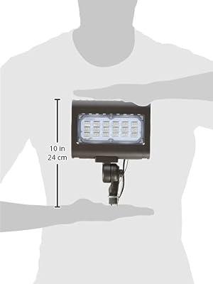 """Morris 71554 30W 5000K LED Flat Panel Flood Light with 1/2"""" Adjustable Knuckle Mount, 2995 lm, 120-277V, Bronze"""