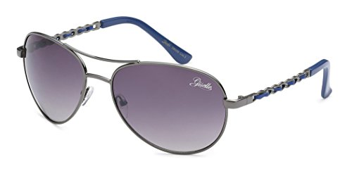 Giselle Round Chain Link Design Women's Retro Aviator - Sunglasses Aviator Giselle