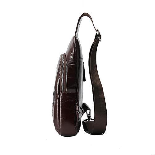 de convenientes superior de ocasional bolso los pecho cuero pecho de cuero los pecho bandolera Bolso bolso Bolso la de bolso de hombres hombres de de vendimia hombro de Color lugares Coffee ligero de ocio q1H4wzA