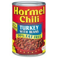 Hormel Chili Turkey with Beans 98% Fat Free 15 oz (Pack of 12) by Hormel