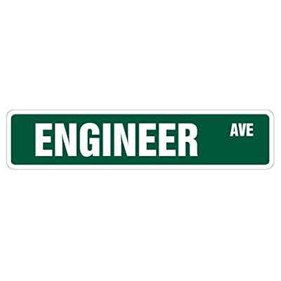 Engineer Street Sign Civil Chemical Engineering Electrical Degree | Indoor/Outdoor | 18' Wide