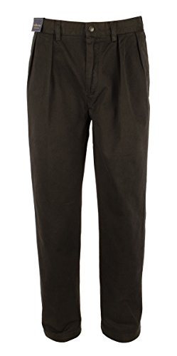 Polo Ralph Lauren Men's Classic-Fit Pleated Chino Pants-B-30Wx30L Weekend Cotton Pleated Pants