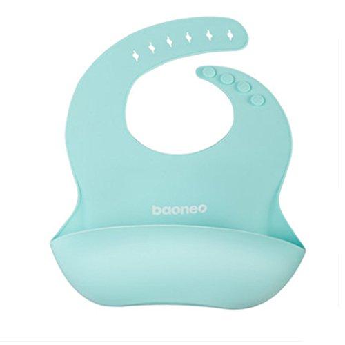 SINOBAND baoneo impermeable silicona bebé babero fácilmente toallitas limpia las manchas cómodo suave niño baberos Keep off menos tiempo de limpieza después ...